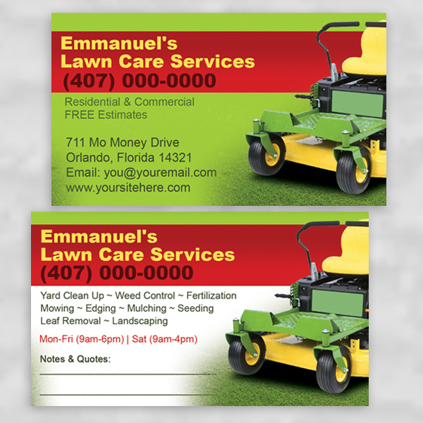 Lawn Care/Landscaping/Grass Cutting Business Cards